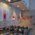 Szklany panel kuchenny - kuchnia na wymiar