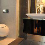 Elegancka łazienka we Wrocławiu - meble łazienkowe